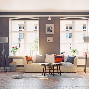 the modern living room interior.3d design concept